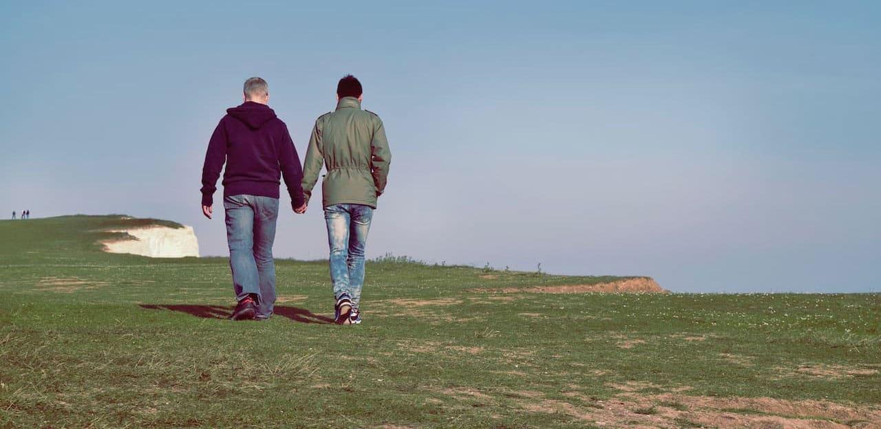 gay men in intimate relationship